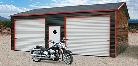 Gainesville, FL Metal Garage to Protect Motorcycle