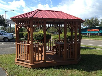 Gazebo Gainesville, FL Red Metal Roof
