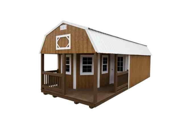 Wooden Cabin Deluxe Lofted Barn Cabin