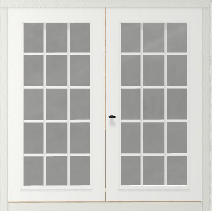 French Door For Portable Wood Building