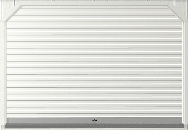 Garage Door Roll-Up For Portable Wood Building