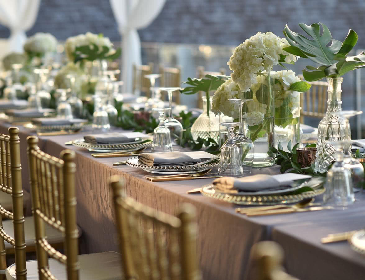 Wedding Catering Table Setup