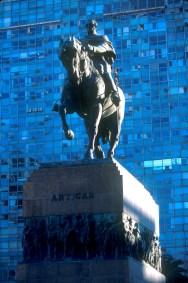 Uruguay, Montevideo, plaza Independencia, General José Artigas, escultura