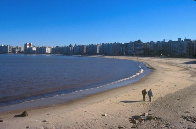 Uruguay, Montevideo, playa de Pocitos