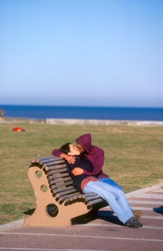 Uruguay, Montevideo, el amor en en playa de Pocitos