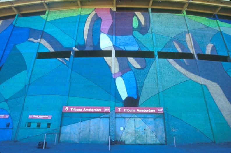 Uruguay, Montevideo, Estadio Centenario, Futbol, mural