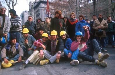 Uruguay, Montevideo, Manifestación de los trabajadores de la construcción, trabajo, retrato