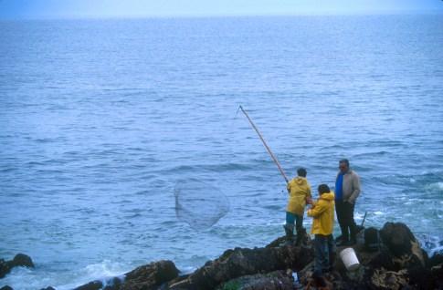 Uruguay, Maldonado, Punta del Este, pescadores