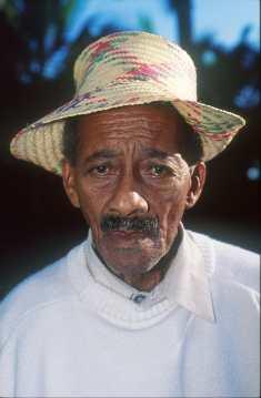 Costa Rica, Puerto Limón, Anciano, retrato