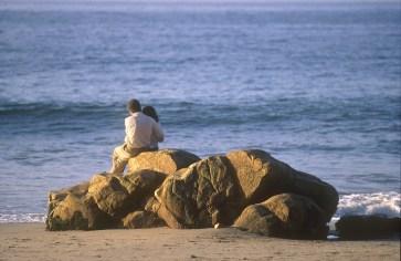 Chile, Cachagua, playa, pareja