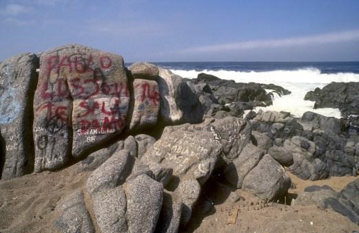 Chile, Isla Negra, Pablo Neruda, graffiti