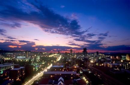 Sudáfrica, Transvaal, Pretoria, vista nocturna