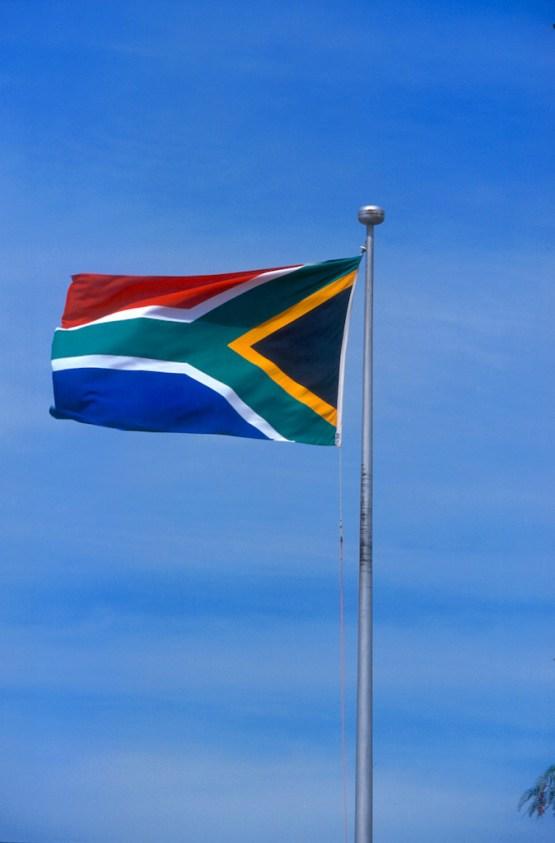 Sudáfrica, Transvaal, bandera de Sudáfrica