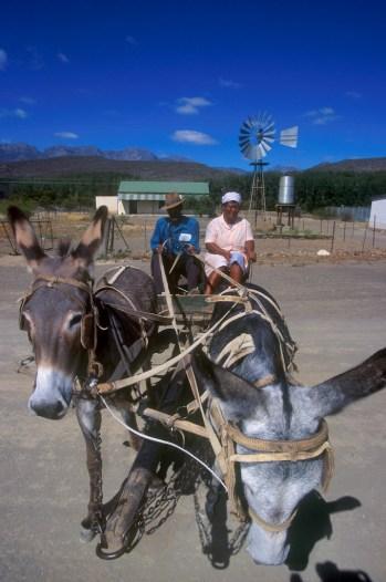 Sudáfrica, Karoo, De Rust, ancianos campesinos, retrato