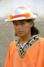 Bolivia, los Yungas, fiesta de Coroico, Cultura Popular, Traje Típico, retrato