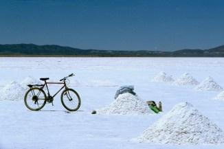 Bolivia, Salar de Uyuni, bicicleta