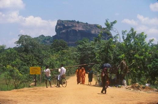 Sri Lanka, Sigiriya, templo de la roca, entrada