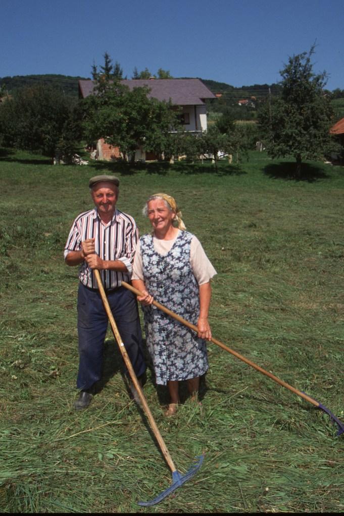 Croacia, Pregada, matrimonio de campesinos, retrato