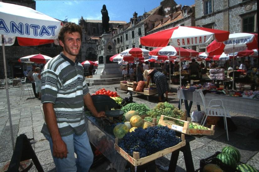 Croacia, Dubrovnik, mercado