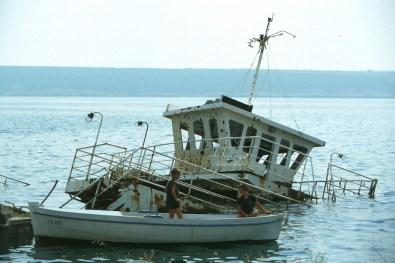 Croacia, mar Adriatico, restos de la Gerra