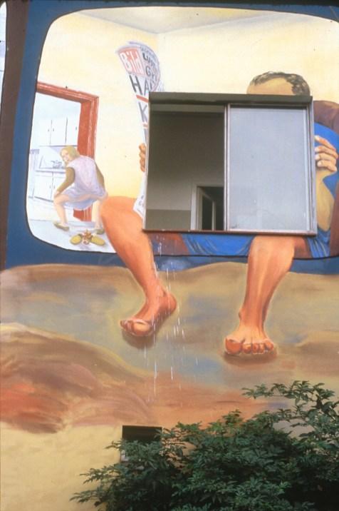 Alemania, Berlín, Casa Tommy Weissbecker, Pintura Mural