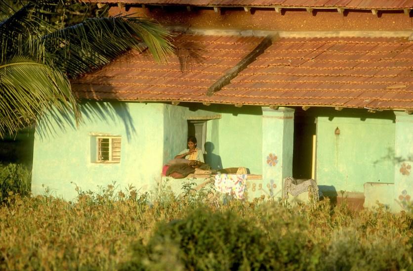India, Mysore, casa particular en el campo