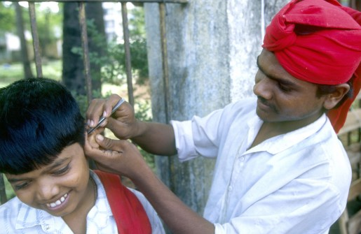 India, Maharashtra, Maharashtra, Bombay, limpiador de orejas, retrato