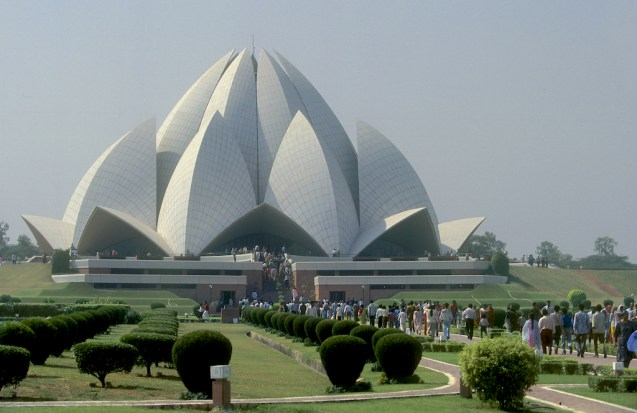 India, Delhi, Uttar Pradehs, Templo Bahai