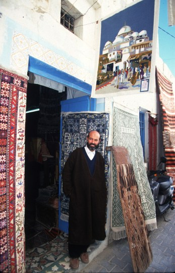 Túnez, Isla de Djerba, Venta de Alfombras, retrato