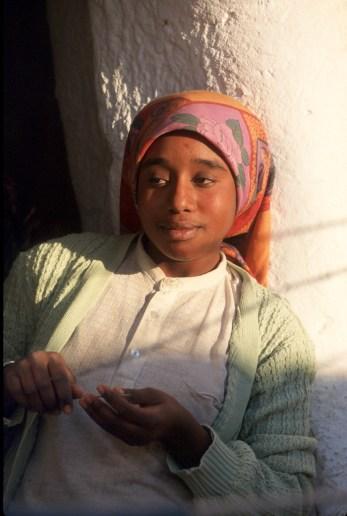 Túnez, Ichenini, señora Berbers, retrato