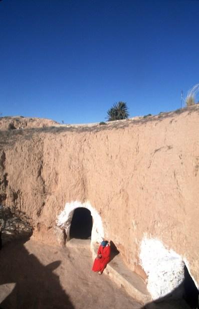 Túnez, Gran Sur, Matmata, casas trogloditas