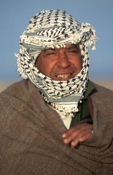 Túnez, Salar El Jerid, el Hombre del Sahara, retrato