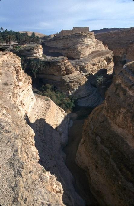 Túnez, oasis de montaña, Mides, Garganta