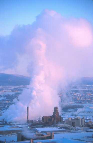 Canadá, Quebec, nube de vapor de agua