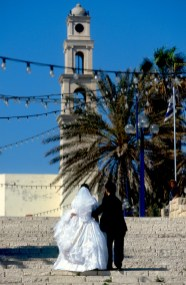 Israel, Yafo (Jaffa), iglesia San pedro, recién casados