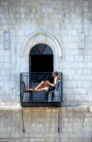 Israel, Jerusalén, barrio Cristiano, tomando el sol