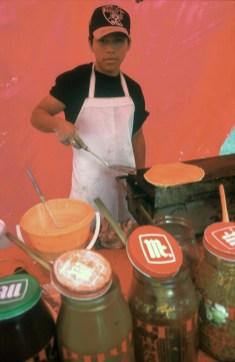 México, Puebla, puesto de pancakes