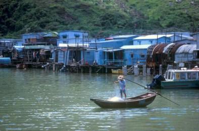Hong Kong, isla Lan Tau, pueblo de Tai-o, pesca