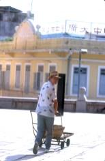 Macao, rua da Palha, vendedor ambulante