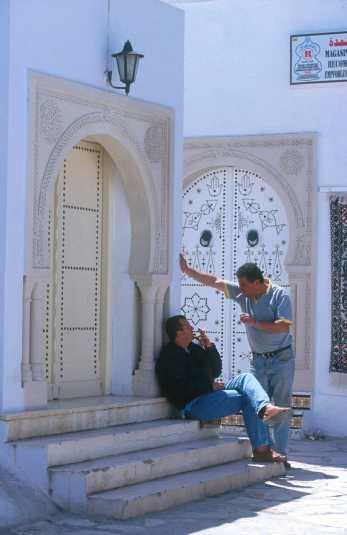 Túnez, La Medina Hammamet, puerta