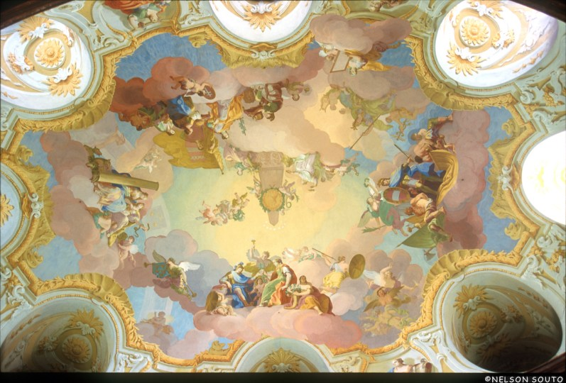 Baja Austria, Greillenstein, Castillo Renacentista Pintura Mural