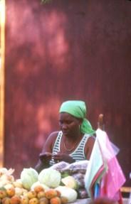 Cabo Verde, isla Santiago, Mercado de Praia, retrato