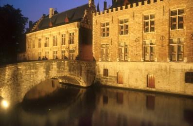 Bélgica, Flandes, Brujas, nocturno