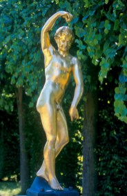 Alemania, Baja Sajonia, Hannover, Jardines Reales Herrenhausen, escultura