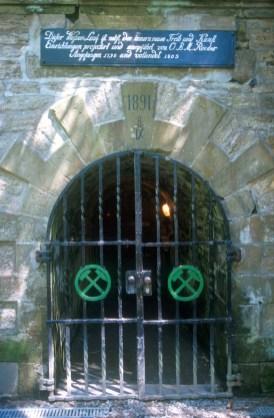Alemania, Baja Sajonia, Goslar, Mina de Rammelsberg, puerta