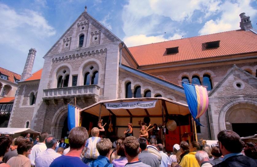 Alemania, Baja Sajonia, Braunschweig, plaza. del Castillo, Fiesta Medieval