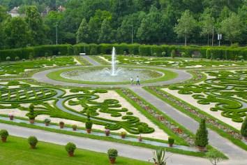 Alemania, Baden-Wurtemberg, Ludwigsburg, palacio Residenzschloss, Jardines a la Francesa
