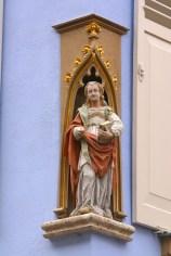 Alemania, Baden-Wurtemberg, Rottenburg Am Neckar, escultura