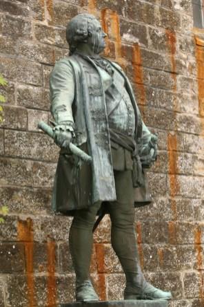 Alemania, Baden-Wurtemberg, Hechingen, castillo Hohenzollern, Fredrick Wilhem, rey de Prusia, escultura