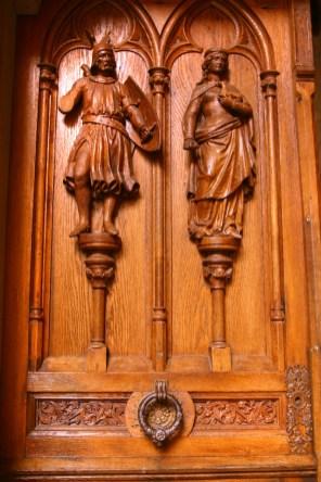 Alemania, Baden-Wurtemberg, Hechingen, castillo Hohenzollern, puerta